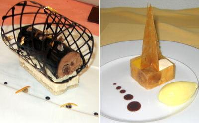 'douceur marron lactée', à gauche, et 'l'exotique', à droite.
