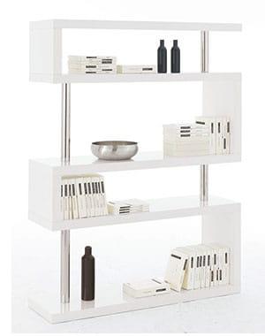 effet m tallique 15 biblioth ques pour un salon. Black Bedroom Furniture Sets. Home Design Ideas