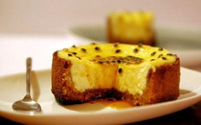 cheesecake exotique et son caramel au fruit de la passion