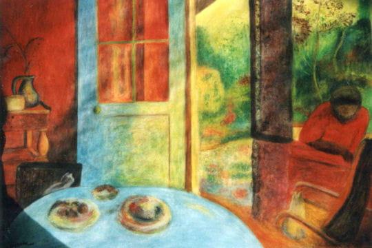 salle manger la campagne copie du tableau de pierre