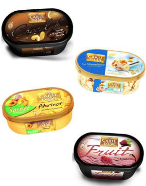 'plein fruit', 'délices' et 'sensations' de carte d'or