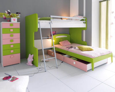 en rose et vert. Black Bedroom Furniture Sets. Home Design Ideas