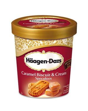 caramel biscuit & cream, speculoos de häagen dazs