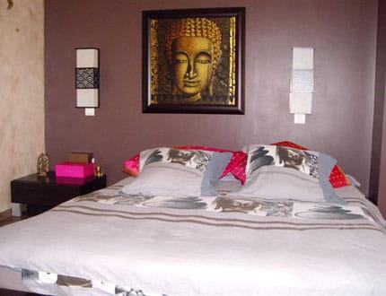 une chambre zen visitez la maison de tina journal des femmes. Black Bedroom Furniture Sets. Home Design Ideas