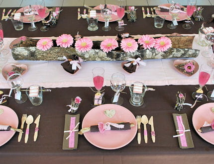 déco de table rose #2