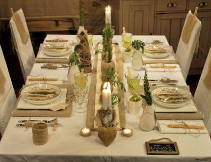 table lin et ficelle les tables de stef journal des. Black Bedroom Furniture Sets. Home Design Ideas