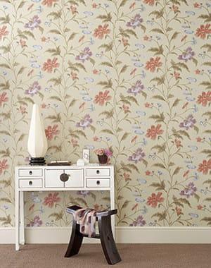 fleurs chinoises 25 papiers peints journal des femmes. Black Bedroom Furniture Sets. Home Design Ideas