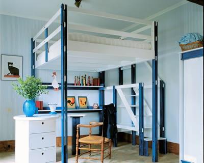 ambiance bord de mer mezzanine gain de place assur journal des femmes. Black Bedroom Furniture Sets. Home Design Ideas