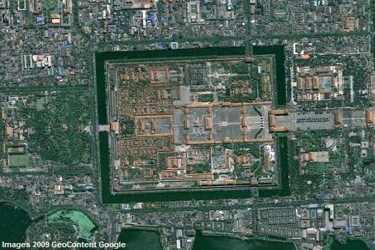 Un jardin imp rial survolez avec google earth les for Jardin imperial