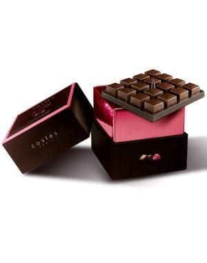 le chocolat noir ganache framboise de costes