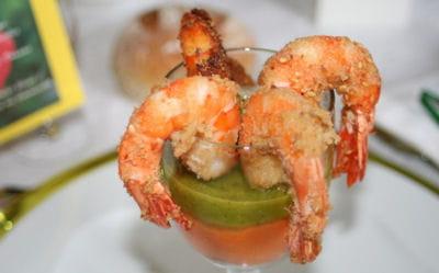 crevettes auxdeux coulis