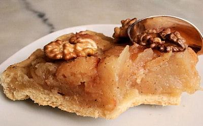 tarte pomme-coing aux noix