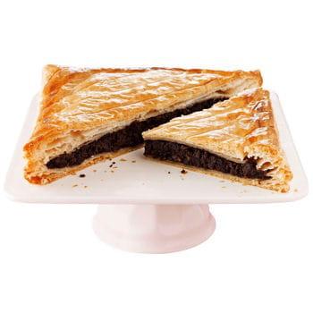galette des rois chocolat, noisette, noix de pécan et pistache de picard