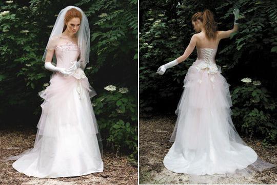 Rose poudr robes de mari es collection 2010 journal for Robes de jardin