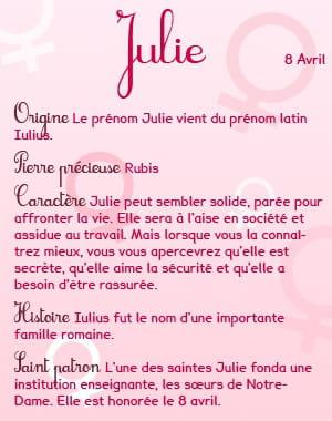 Robes feminines origine prenom julie - Lundi de pentecote signification ...