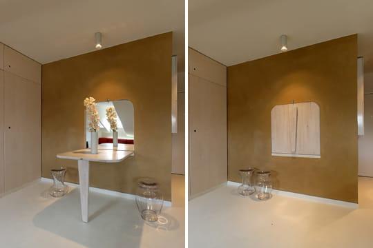 Le coin repas un mini studio bio et ultra optimis - Tavolo a ribalta da parete ...