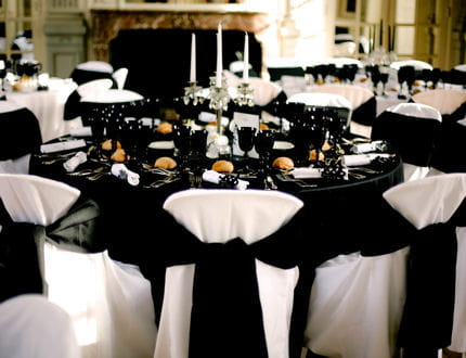 Black and white un mariage chic et baroque 12 - Decoration mariage baroque ...