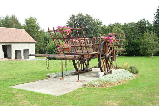 La charrette au milieu du jardin ces l ments d co qui for Ane decoration jardin