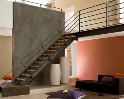 pour un effet marbr peinture des murs hauts en couleurs journal des femmes. Black Bedroom Furniture Sets. Home Design Ideas