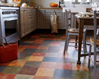 Damiers color s quel rev tement de sol pour ma cuisine for Quel revetement mural pour cuisine