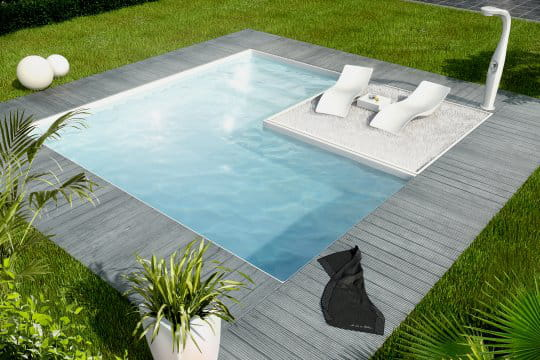 Une piscine cubique trs tendance