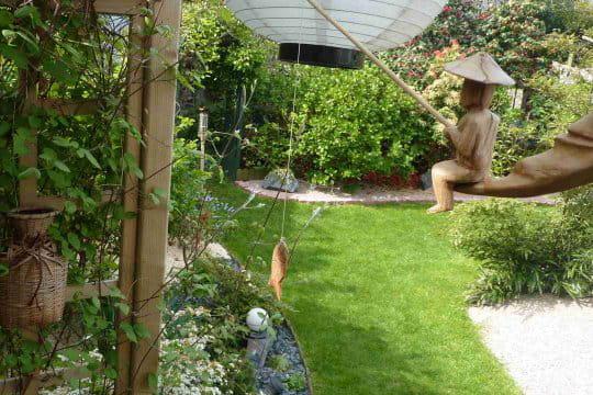 Souvenir de birmanie ambiance zen dans le jardin normand for Le jardin normand