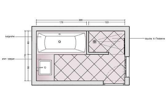 Compact 10 plans pour une mini salle de bains journal for Plan pour une salle de bain