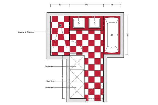 10 plans pour une mini salle de bains journal des femmes for Plan salle de bain m