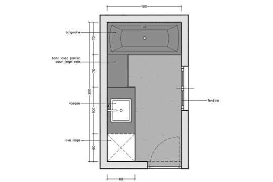 rectangulaire 10 plans pour une mini salle de bains journal des femmes. Black Bedroom Furniture Sets. Home Design Ideas