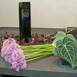 les éléments nécessaires à la confection de votre bouquet.