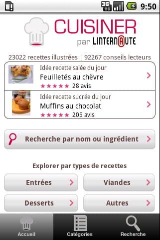 Services android du journal des femmes journal des for L internaute cuisiner