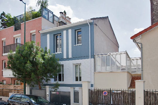 C 39 est une maison bleue une maison 1930 relook e du for Facade maison 1930