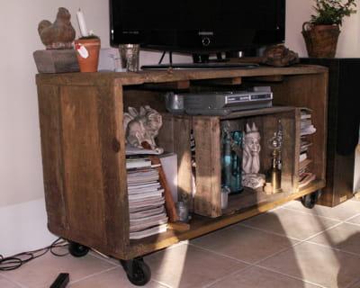 Transformer un coffre un meuble t l 12 astuces 100 r cup 39 journal - Transformer meuble tv ...
