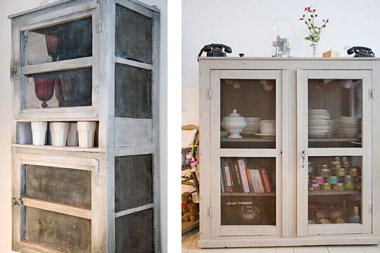une cuisine l 39 ancienne un triplex la d co vintage. Black Bedroom Furniture Sets. Home Design Ideas