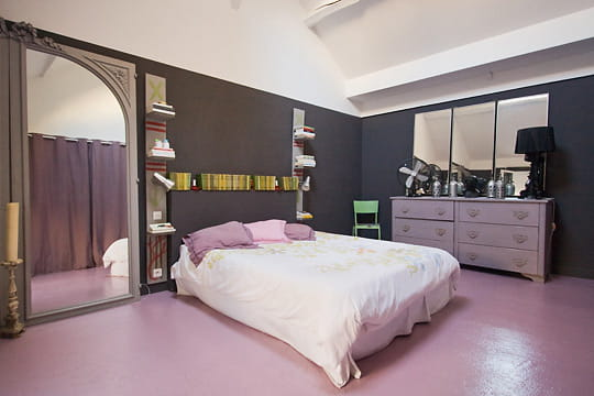 la chambre parentale un triplex la d co vintage journal des femmes. Black Bedroom Furniture Sets. Home Design Ideas