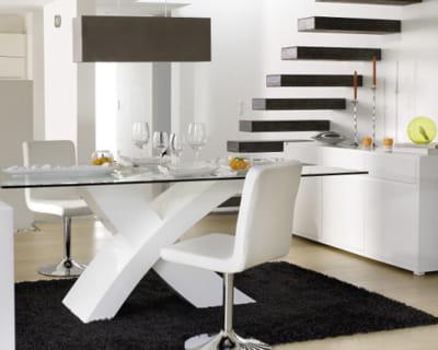 Esprit loft a table dans une belle salle manger journal des femmes - Table salle a manger loft ...