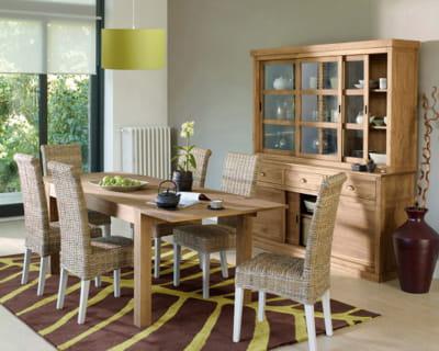 Influence indon sienne a table dans une belle salle manger journal de - La redoute table salle a manger ...