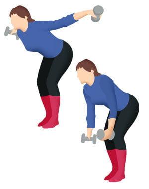 Avec deux petits haltères : 10 exercices faciles pour se muscler le dos - Journal des Femmes