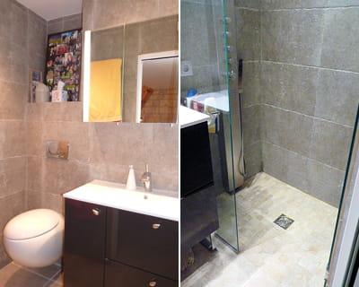 apr s une salle de bains gain de place avant apr s. Black Bedroom Furniture Sets. Home Design Ideas
