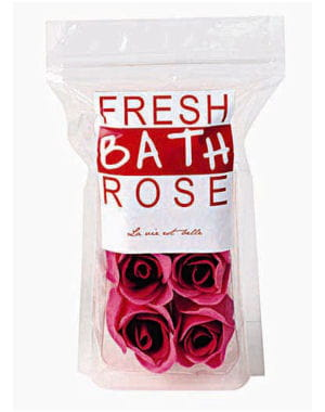 7 roses de bain de monoprix