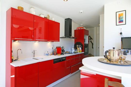 Cuisine carlate des cuisines comme on en r ve for Cuisine ouverte rouge