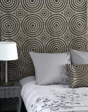 rideau graphique de madura des fen tres habill es pour l 39 hiver journal des femmes. Black Bedroom Furniture Sets. Home Design Ideas