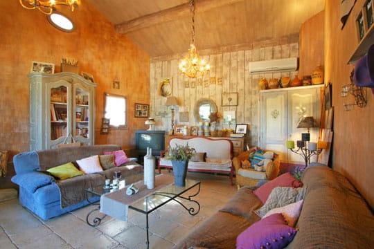 Ambiance boh me toujours plus d 39 id es pour d corer mon salon journal des femmes - Decoration interieur mas provencal ...