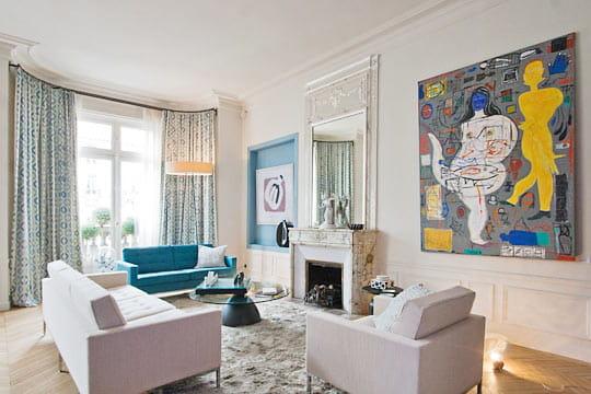 salon bleu marine et blanc - Salon Bleu Marine Et Blanc