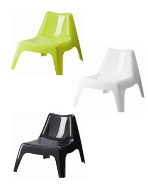 Table et chaise de jardin pvc for Chaise ikea plastique