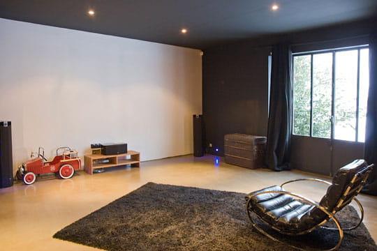 Un salon multim dia design impressionnante renaissance d for Plafond peint en noir