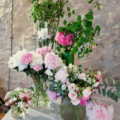 Un mariage aux couleurs tendres les fleurs d coration de mariage 15 id - Deco mariage bucolique ...