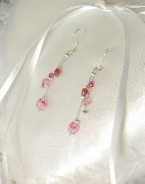 boucles d'oreil en perles de cristal katou créations