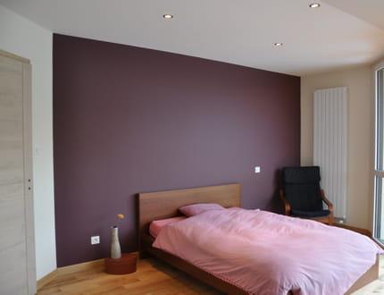 Deco chambre gris et mauve deco chambre adulte gris et - Chambre adulte violet ...