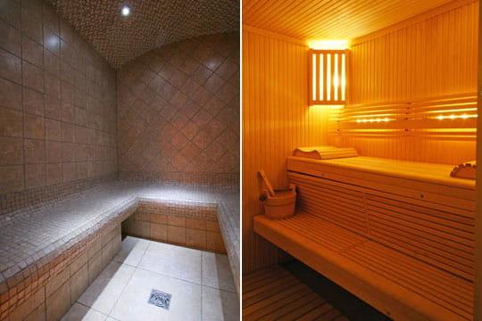 Hammam et sauna d co tamis e au chalet journal des femmes for Hammam et sauna
